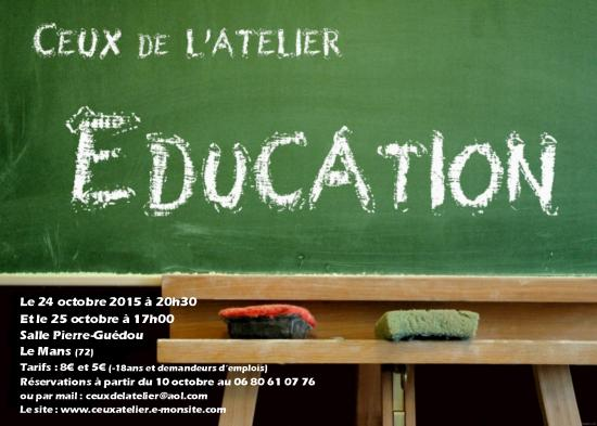 Recto flyer education atelier